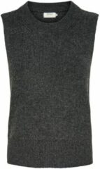 Grijze Only Onlparis Life Vest Knt Noos 15220032 Dark Grey Melange
