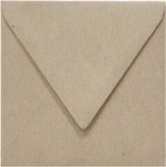 Paper For Moments 50x luxe wenskaartenveloppen vierkant 160x160 mm - 16,0x16.0 cm - 110 grams 100% recycled grijs - fluting grey