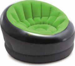 Intex Opblaasbare Loungestoel 112 Cm Vinyl Grijs/groen