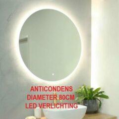 Schloss Ronde badkamerspiegel met LED verlichting en anticondenverwarming 80 CM
