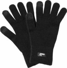 Zwarte PUMA knit gloves Handschoenen Unisex - PUMA Black-N.1 LOGO