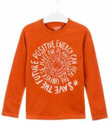 Oranje T-shirt Losan 023-1013AL