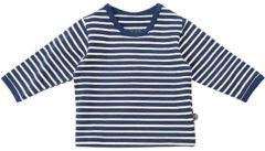 Blauwe Minymo Longsleeve Baby shirt Baby T-shirt Maat 50