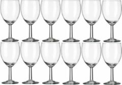 Transparante Royal Leerdam 12x Wijnglazen voor rode wijn 290 ml Gilde - 29 cl - Rode wijn glazen - Wijn drinken - Wijnglazen van glas