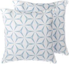 Witte Beliani Weigela Decokussen Polyester 45 X 45 Cm