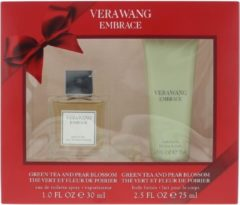 Vera Wang Embrace groen Tea & Pear Blossom Geschenkset - 30ml EDT + 75ml Body Lotion