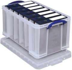 Really Useful Boxes transparante opbergdoos 48 l, buitenft 610 x 402 x 315 mm, binnenft 545 x 330 x 28...