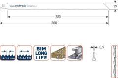 Rotec Reciprozaagblad x 300 x 10-14TPI - Metaal/Hout (5st)