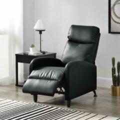 En.casa Verstelbare relaxfauteuil 102x60x92 cm kunstleer zwart