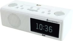 Soundmaster UR8350WE - DAB+, FM wekker radio met USB - wit