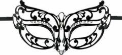 Easytoys Fetish Collection Easytoys Opengewerkt Masker Metaal - Zwart - Sexy Lingerie & Kleding - Accessoires