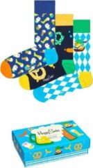 Blauwe Happy Socks Oktoberfest Gift box 3-Pack Multipack Unisex Geschenkset Maat 41-46