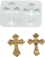 Witte Silikomart Sugarflex Mould -Cross