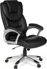 AMSTYLE Bürostuhl MADRID Kunstleder Schwarz ergonomisch mit Kopfstütze Design Chefsessel Schreibtischstuhl mit Wippfunktion Drehstuhl hohe Rücken-Le
