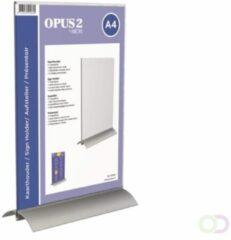 Transparante Kaarthouder T-standaard OPUS 2 A4 acryl/aluminium