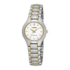 Lorus RRS32FX9 horloge dames - zilver en goud - edelstaal bicolor
