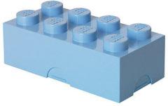 Blauwe Lego Classic Lunchbox - Mini 8 - 10 x 20 x 7,5 cm - Lichtblauw