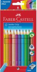Witte Kleurpotlood Faber Castell Jumbo Grip Etui à 12 Stuks