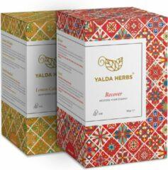 Combipack van Recover en Lemon Cold Buster-2 doosjes van Yalda Herbs Kruidenthee-36 piramide theezakjes