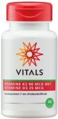 Vitals Vitamine K2 90 mcg met Vitamine D3 25 mcg Voedingssupplementen - 60 vegicaps
