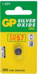 Grijze GP Batteries Silver Oxide Cell 395 Single-use battery SR57 Zilver-oxide (S) 1,55 V