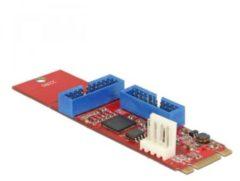 DeLOCK Converter M.2 Key B+M male > 2 x USB 3.0 Pin Header (62843)