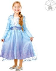Blauwe Disney RUBIES FRANCE - Klassieke Elsa Frozen 2 outfit voor meisjes - 110/116 (5-6 jaar) - Kinderkostuums
