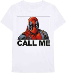 Marvel Deadpool Heren Tshirt -S- Deadpool Call Me Wit