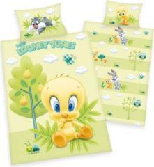 Herdings young collection Renforce-Baby-Bettwäsche, 2-tlg., Looney Tunes, 40x60/100x135 cm