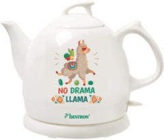 Witte Bestron Waterk. 1785W 0.8Ltr keramische pot DTP800DL No Drama Lama