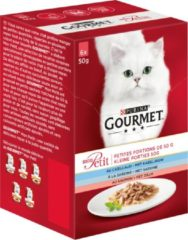 Gourmet Mon Petit - Kabeljauw, Sardine en Zalm - Kattennatvoer - 4x (6 x 50 g)