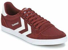 Bordeauxrode Lage Sneakers Hummel STADIL CANEVAS LOW