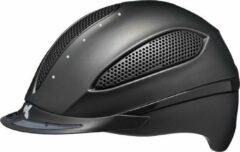 Zwarte Paso L black matt KED cap met SWAROVSKI kristallen - hoofdomtrek: 57-62 cm
