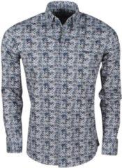 Ferlucci - Heren Overhemd met Trendy Design - Calabria - Stretch - Grijs