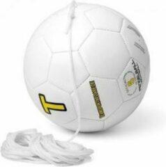 Witte SoccerConcepts Kopbal Pendelbal met lijn - Voetbal - 9 meter lijn - Senior bal
