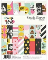 "Simple Stories: Emoji Love Paper Pad 6""X8"" (EMO8014)"
