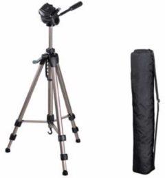 Tripod Hama Hama Kamerastativ Star 63 1/4 inch Werkhoogte=66 - 160 cm Zilver incl. tas, Waterpas