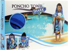 Toi-toys Premium Handdoek Poncho Haai Kids - 60 x 60 cm