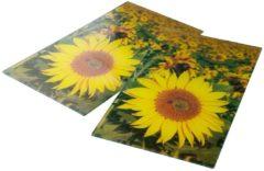 Herd-Abdeckplatten, 2er Set Sonnenblumen gelb