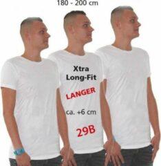 Longfit t-shirt wit voor heren - extra lang shirt