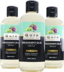 Qure Natural Oil Druivenpitolie | 100% Puur en Vloeibaar (100ml) | Druivenpit Olie voor Haar, Gezicht en Lichaam