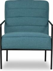 Zwarte Lanterfant® Loungestoel Cleo - Petrol - Relaxstoel - Stalen frame