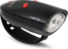 Mini Hornit NANO - Fietslicht met Geluidseffecten - Zwart/Rood