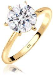 Gouden Elli Dames Ringen Verlovingsring Swarovski® Kristal 925 Zilver