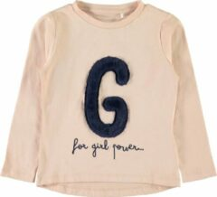 Roze Name it Meisjes T-shirt - Rose Cloud - Maat 86
