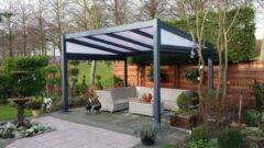 Van Kooten Tuin en Buitenleven Profiline terrasoverkapping - vrijstaand - 400x300 cm - polycarbonaat dak