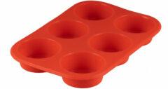 Rode Sareva Siliconen Muffinvorm 6 Muffins