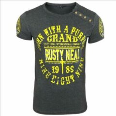 Antraciet-grijze Rusty Neal T-shirt - heren - antraciet - 15216