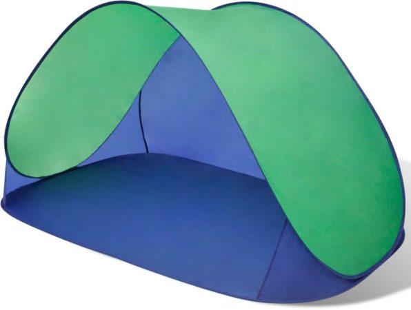 Afbeelding van Groene VidaXL Opvouwbare strandtent waterafstotend en met UV bescherming (groen)