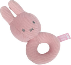 Tiamo Collection Nijntje Rammelaar Pink Rib-serie Pluche Meisjes 16 Cm Roze
